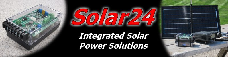 Solar 24 - Intelligent Solar Power Supply with Integrated Battery Power